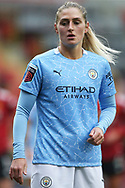 Manchester City midfielder Laura Coombs (7) Portrait half body during the FA Women's Super League match between Manchester United Women and Manchester City Women at Leigh Sports Village, Leigh, United Kingdom on 14 November 2020.