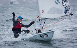 The annual RYA Youth National Championships is the UK's premier youth racing event. Day 3 with winds backing to the North the racing started on the Largs Channel.<br /> <br /> 212949, Jamie Calder, Loch Tummel SC/ Dalgety Bay SC, Laser Standard <br /> <br /> Images: Marc Turner / RYA<br /> <br /> For further information contact:<br /> <br /> Richard Aspland, <br /> RYA Racing Communications Officer (on site)<br /> E: richard.aspland@rya.org.uk<br /> m: 07469 854599