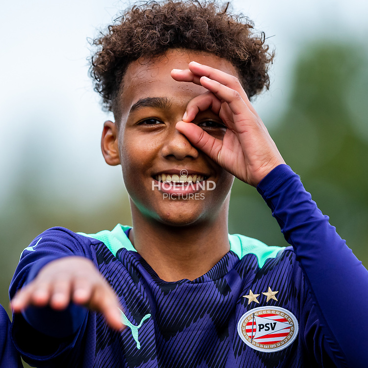 ALPHEN AAN DEN RIJN, NETHERLANDS - OCTOBER 2: #11 Gino Verhulst (PSV) during the Divisie 1 A NAJAAR u15 match between Alphense Boys and PSV at Sportpark De Bijlen on October 2, 2021 in Alphen aan den Rijn, Netherlands