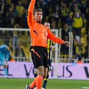 Referee's Ozgur Yankaya during their Turkish superleague soccer match Fenerbahce between Akhisar Belediyespor at the Sukru Saracaoglu stadium in Istanbul Turkey on Monday 23 February 2015. Photo by Kurtulus YILMAZ/TURKPIX