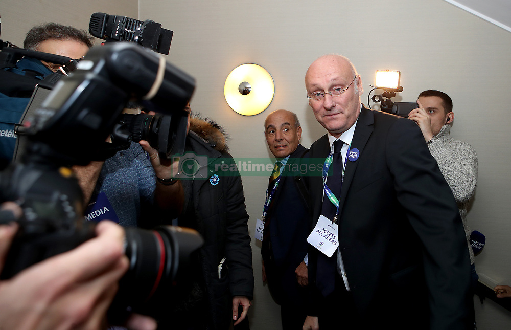 French Rugby Federation president Bernard Laporte during the 2023 Rugby World Cup host union announcement at The Royal Garden Hotel, Kensington.
