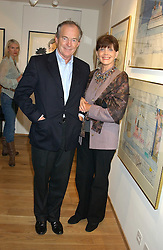 Actress GAYLE HUNNICUTT and her husband MR SIMON JENKINS at a party to celebrate the publication of Drawing Blood -Forty-Five Years of Scarfe Uncensored, a book of Gerald Scarfe's work held at The Fine Arts Society, New Bond Street, London on 3rd November 2005.<br /><br />NON EXCLUSIVE - WORLD RIGHTS