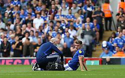 Luke Garbutt of Ipswich Town receives treatment for an injury - Mandatory by-line: Arron Gent/JMP - 10/08/2019 - FOOTBALL - Portman Road - Ipswich, England - Ipswich Town v Sunderland - Sky Bet League One