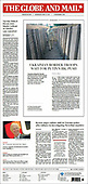 April 14, 2021 - CANADA: Front-page: Today's Newspapers In Canada