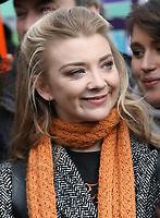 Natalie Dormer at March4Women 2020 rally at Southbank Centre on March 08, 2020 in London, England. The event is to mark International Women's Day photo by Roger Alarcon