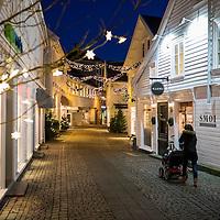 6 desember 2014. 18 dager til julaften. I gågata i Mandal er julelysene tent. <br /> <br /> December 6 2014 18 days until christmas eve. In Mandal, Norway the christmas street is ready.