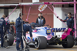 February 28, 2019 - Spain - Lance Stroll (Racing Point F1 Team) RP19 car, seen in action during the winter testing days at the Circuit de Catalunya in Montmelo  (Credit Image: © Fernando Pidal/SOPA Images via ZUMA Wire)
