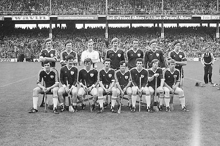 All Ireland Senior Hurling Final - Kilkenny v Galway,.Kilkenny 2-12, Galway 1-8,.02.09.1979, 09.02.1979, 2nd September 1979, Galway, S Shinnors, N Mclnerney, C Hayes, A Fenton, J McDonagh (capt), S Silke, I Clarke, John Connolly, S Mahon, B Forde, F Burke, Joe Connolly, P J Molloy, N Lane, F Gantley, Subs, S Linnane for Forde, M Whelan for Burke, Referee G Ryan (Tipperary),.02091979AISHCF,