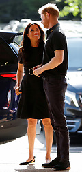 Prince Harry, Duke of Sussex, and Meghan Markle, Duchess of Sussex, attend the Boston Red Sox vs New York Yankees baseball match at The Queen Elizabeth Olympic Park, London, UK, on the 29th June 2019. Picture by Peter Nicholls/WPA-Pool. 29 Jun 2019 Pictured: Meghan Markle, Duchess of Sussex, Prince Harry, Duke of Sussex. Photo credit: MEGA TheMegaAgency.com +1 888 505 6342