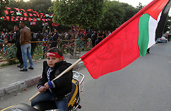 December 13, 2016 - Rafah, Gaza Strip, Palestinian Territory - Palestinians take part in a rally marking the 49th anniversary of the founding of the Popular Front for the Liberation of Palestine (PFLP), in Rafah in the southern Gaza strip, on 13 December 2016  (Credit Image: © Abed Rahim Khatib/APA Images via ZUMA Wire)