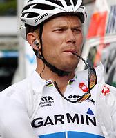 Sykkel<br /> 12.06.2011<br /> Foto: imago/Digitalsport<br /> NORWAY ONLY<br /> <br /> Crans Montana SUI Herren Radsport Tour de Suisse 2011 1. Etappe Thor Hushovd NOR / Team Garmin Cervelo