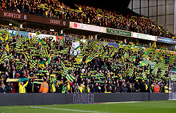 Norwich City fans in the stands ahead of the Sky Bet Championship match at Carrow Road.