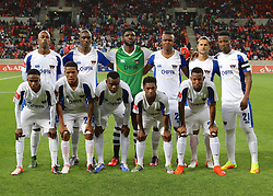 Chippa United during the 2016 Premier Soccer League match between Chippa United and Platinum Stars held at the Nelson Mandela Bay Stadium in Port Elizabeth, South Africa on the 28th October 2016<br /><br />Photo by:   Richard Huggard / Real Time Images