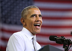 October 28, 2016 - Orlando, FL, USA - President Obama speaks during a rally for Democratic presidential nominee Hillary Clinton at the University of Central Florida on Friday, Oct. 28, 2016, in Orlando, Fla. (Credit Image: © Joe Burbank/TNS via ZUMA Wire)
