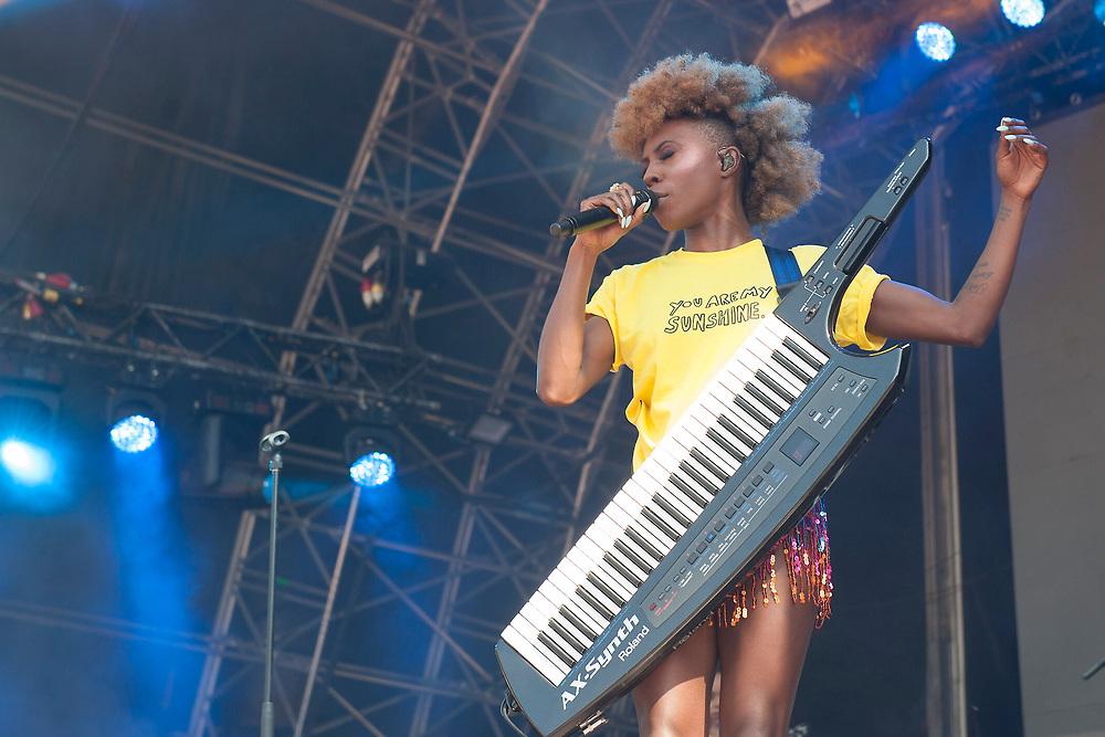 Laura Mvula in concert at Fiesta x FOLD Festival, Kelvingrove Park, Glasgow, Great Britain 1st July, 2018