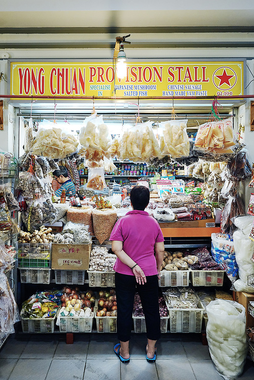 Photographs of products and ingredients at market places in Singapore