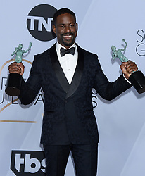 25th Annual Screen Actors Guild Awards - Press Room. 27 Jan 2019 Pictured: Sterling K. Brown. Photo credit: MEGA TheMegaAgency.com +1 888 505 6342