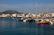 Boats in harbour at Corralejo, Fuerteventura, Canary Islands, Spain