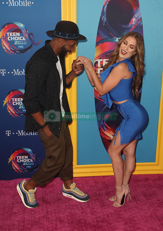 FOX's Teen Choice Awards 2018 at The Forum in Inglewood. California on August 12, 2018. CAP/MPIFS ©MPIFS/Capital Pictures. 12 Aug 2018 Pictured: Stephen 'tWitch' Boss, Allison Holker. Photo credit: MPIFS/Capital Pictures / MEGA TheMegaAgency.com +1 888 505 6342