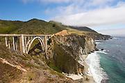 Bixby Bridge on the Pacific Coast Highway in Big Sur, California.