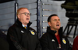 Scotland manager Alex Macleish (left) and coach Peter Grant during the UEFA Nations League, League C Group one match at Hampden park, Glasgow.