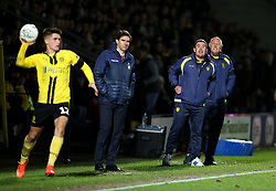 Burton Albion manager Nigel Clough (right) and Nottingham Forest manager Aitor Karanka on the touchline during the Carabao Cup, Fourth Round match at the Pirelli Stadium, Burton.