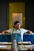 Chef Brian Surbaugh poses for a portrait at National Provisions on Thursday April 2, 2015.<br /> <br /> Photos by William DeShazer