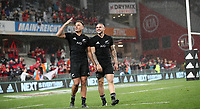 Rugby Union - 2017 British & Irish Lions Tour of New Zealand - First Test: New Zealand vs. British & Irish Lions<br /> <br /> Israel Dagg and TJ Perenara of The All Blacks  wave to the crowd after winning the first test at Eden Park, Auckland.<br /> <br /> COLORSPORT/LYNNE CAMERON
