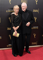 .Max von Sydow, Catherine Brelet  attend  2016 Creative Arts Emmy Awards - Day 1 at  Microsoft Theater on September 10th, 2016  in Los Angeles, California.Photo:Tony Lowe/Globephotos