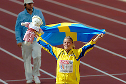 11-08-2006 ATLETIEK: EUROPEES KAMPIOENSSCHAP: GOTHENBURG <br /> De Zweedse Susanna Kallur wint de 100 horden. <br /> ©2006-WWW.FOTOHOOGENDOORN.NL