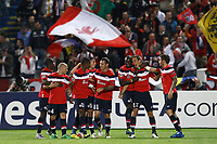 FOOTBALL - UEFA CHAMPIONS LEAGUE 2011/2012 - GROUP STAGE - GROUP B - LILLE OSC v CSKA MOSCOW - 14/09/2011 - PHOTO CHRISTOPHE ELISE / DPPI - BENOIT PEDRETTI (LOSC) JOY GOAL