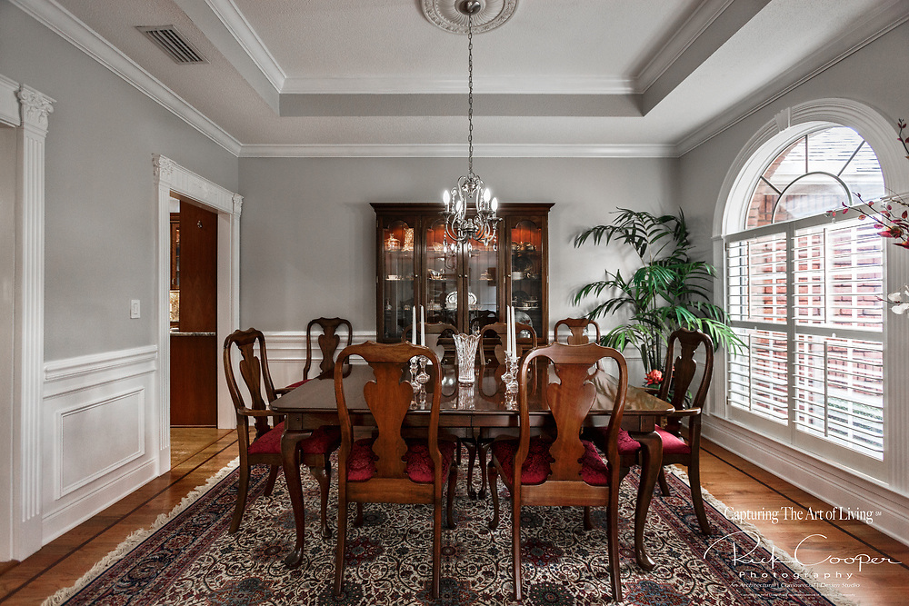 View of a tradition formal dining room