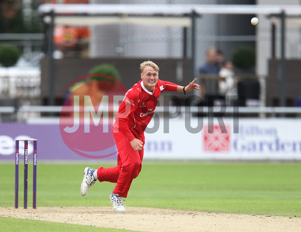 Matt Parkinson of Lancashire Lightning in action - Mandatory by-line: Jack Phillips/JMP - 23/07/2017 - CRICKET - Emirates Old Trafford - Manchester, United Kingdom - Lancashire Lightning v Durham Jets - Natwest T20 Blast