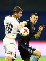 27.07.2017., Zagreb, Croatia - <br /> UEFA Europa League Third qualifying round, Game 1.  Dinamo Zagreb vs Odd BK.  Armin Hodzic. <br /> Fredrik Semb Berge , Odd<br /> <br /> Norway only