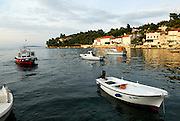 View of harbour, Racisce, island of Korcula, Croatia
