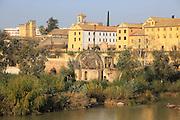 Historic Albolafia Moorish water-wheel on river Rio Guadalquivir, Cordoba, Spain