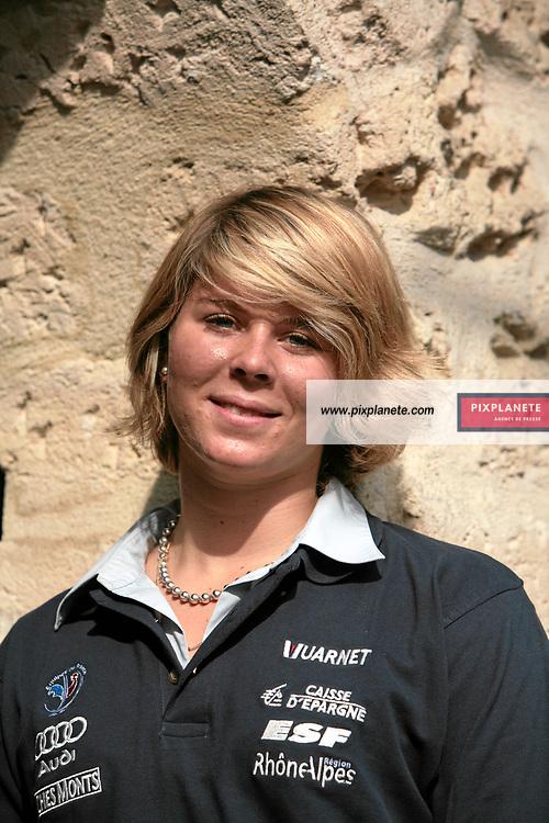 Anne Sophie Barthet - Ski Alpin - présentation de l'équipe de France de ski 2007-2008 - Photos exclusives - Paris, le 9/10/2007 - JSB / PixPlanete
