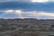"""Image from the """"badlands"""" area known as Skull Creek Rim, Red Desert, Sweetwater County, Wyoming, USA."""
