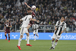 May 3, 2019 - Turin, Piedmont, Italy - Andrea Belotti (Torino FC) and Leonardo Bonucci (Juventus FC) competes for the ball during the Serie A football match between Juventus FC and Torino FC at Allianz Stadium on May 03, 2019 in Turin, Italy..Final results: 1-1. (Credit Image: © Massimiliano Ferraro/NurPhoto via ZUMA Press)