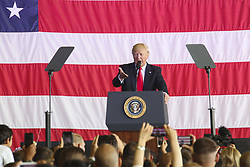 May 27, 2017 - Naval Air Station Sigonella, Italy - President DONALD TRUMP speaks to U.S. service members and their families at Naval Air Station Sigonella, Italy, May 27, 2017. Trump traveled to Sicily to attend the G7 Summit and meet with world leaders. (Credit Image: ? Samuel Guerra/Marines/DoD via ZUMA Wire/ZUMAPRESS.com)