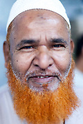 The cashier at the Haji-Shabrati Nihari wallah, Old Delhi, India