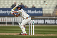 a play and a miss for Yorkshire Gary Ballance  during the Specsavers County Champ Div 1 match between Warwickshire County Cricket Club and Yorkshire County Cricket Club at Edgbaston, Birmingham, United Kingdom on 24 April 2016. Photo by Simon Davies.