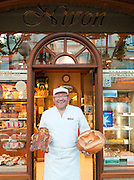 The manager of a boulangerie in Valence, Drôme region, France