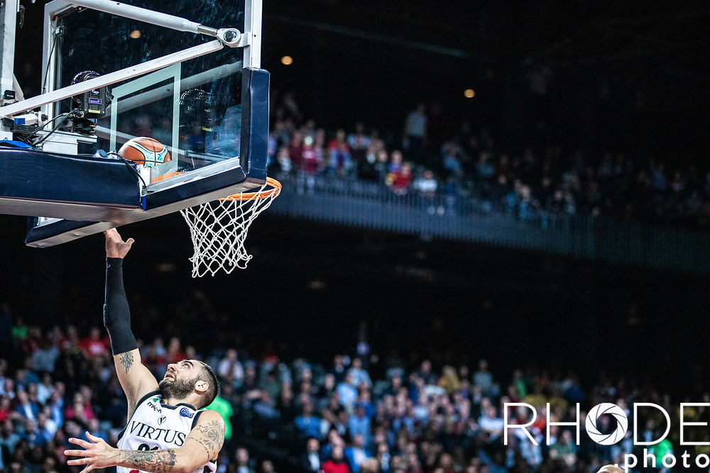 Pietro Aradori (ITA/Segafredo Virtus Bologna)<br /> <br /> <br /> Basketball Champions League Final Four Antwerp 2019<br /> Semi-Final: Virtus Segafredo Bologna (ITA) vs. Brose Bamberg (GER) : 67-50