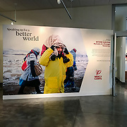 Refugees crossing Serbia in January 2016-on display at the Mercy Corps headquarters in Portland, OR.