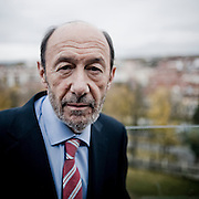 Alfredo Perez Rubalcaba, leader of the Spanish Socialist Workers' Party (PSOE - Partido Socialista Obrero Español), Prime Ministerial candidate for the 2011 Spanish general elections on the 20th November. Portrait taken 10th november 2011 in Burgos, Spain. Photo credit: Alberto Paredes..