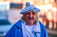 A Coventry City fan arrives ahead of the EFL Sky Bet League 1 match between Luton Town and Coventry City at Kenilworth Road, Luton, England on 24 February 2019.