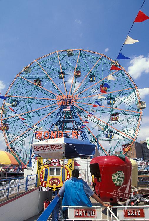 The Wonder Wheel. Coney Island ferris wheel.