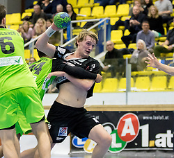 12.11.2016, BSFZ Suedstadt, Maria Enzersdorf, AUT, HLA, SG INSIGNIS Handball WESTWIEN vs Sparkasse Schwaz HANDBALL TIROL, Grunddurchgang, 12. Runde, im Bild Michael Nicolaisen (Sparkasse Schwaz HANDBALL TIROL) // during Handball League Austria, 12 th round match between SG INSIGNIS Handball WESTWIEN and Sparkasse Schwaz HANDBALL TIROL at the BSFZ Suedstadt, Maria Enzersdorf, Austria on 2016/11/12, EXPA Pictures © 2016, PhotoCredit: EXPA/ Sebastian Pucher