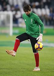November 3, 2018 - Turin, Italy - Mattia Perin during Serie A match between Juventus and Cagliari on November 3, 2018 in Turin, Italy. (Credit Image: © Loris Roselli/NurPhoto via ZUMA Press)